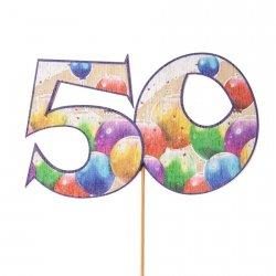 Cyfra ozdobna pik 50 balony 3szt/kpl
