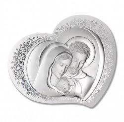 Obrazek srebrny przedstawiający wizerunek Świętej Rodziny