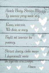 Drewniana tabliczka MDF Modlitwa