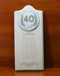 Deska Życzenia urodzinowe 40
