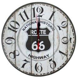 Zegar ścienny drewniany, route 66