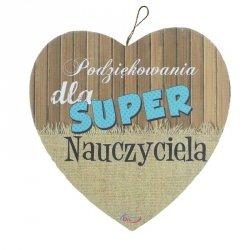 Drewniana tabliczka Dla super nauczyciela
