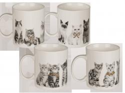 Kubek porcelanowy Kot , 4 rodzaje