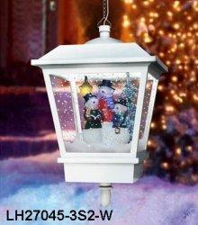 Wisząca lampa bożonarodzeniowa z bałwanami