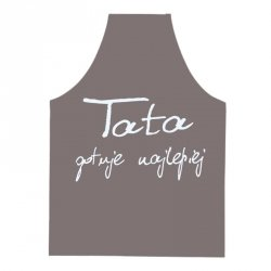 Fartuszek kuchenny brązowy Tata gotuje najlepiej