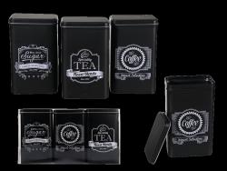 ZESTAW 3 POJEMNIKÓW COFFE/TEA/SUGAR