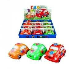 Skarbonka samochodzik, mix kolorów