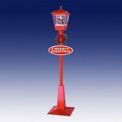 Duża lampa bożonarodzeniowa z mikołajem