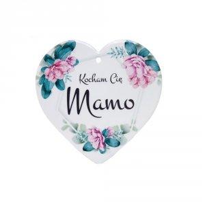 Ceramiczna tabliczka w kształcie serca Kocham Cię Mamo