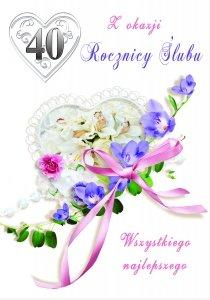 Kartka Z Okazji 40  Rocznicy Ślubu