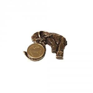 Metalowa figurka na szczęście słonik
