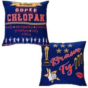 Poduszka dwustronna Super Chłopak