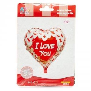 Napis dmuchany serca I LOVE YOU 18 cm, dwa wzory