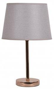 LAMPA METALOWA GOLD ROSE Z JASNO BEŻOWYM ABAŻUREM 5x25x41 cm