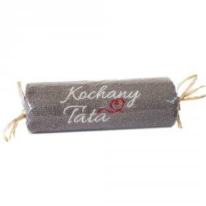 Ręcznik szary cukierek z haftem Kochany Tata