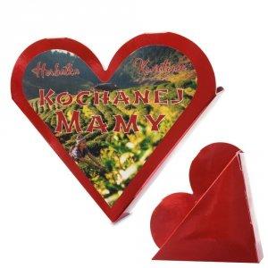 Serce z napisem Herbatka Kwiatowa Kochanej Mamy