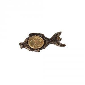 Metalowa figurka na szczęście rybka