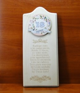 Deska Życzenia urodzinowe, 18