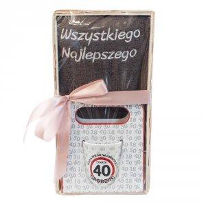 Zestaw prezentowy na 40 urodziny Wszystkiego najlepszego z okazji 40 urodzin