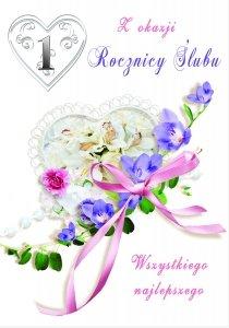 Kartka Z Okazji 1  Rocznicy Ślubu