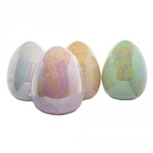 Jajo ceramiczne 11x11x13 cm, mix kolorów