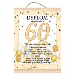 Dyplom dla niej za osiągnięcie 60 lat