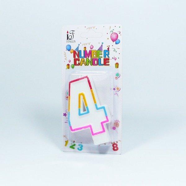 Świeczka urodzinowa '4 '
