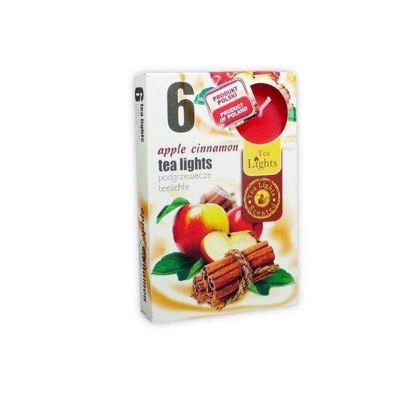 "PODGRZEWACZ 6 SZTUK TEA LIGHT ""apple cinnamon"""