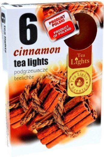 """PODGRZEWACZ 6 SZTUK TEA LIGHT """"Cinnamon"""""""