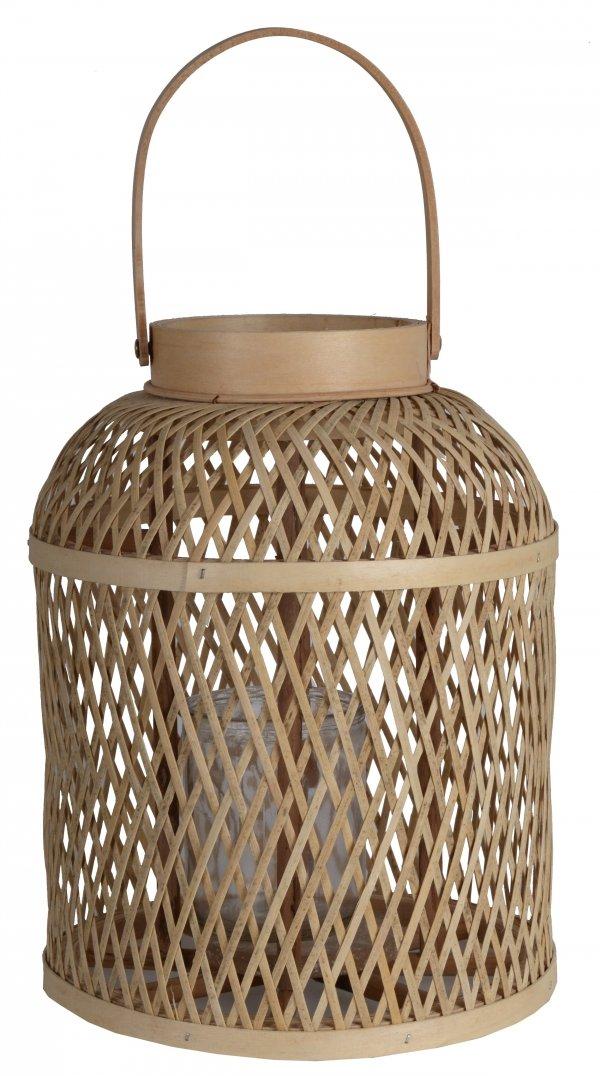 LAMPION BABUSOWY ZE SZKLANYM WKŁADEM 26x35 cm