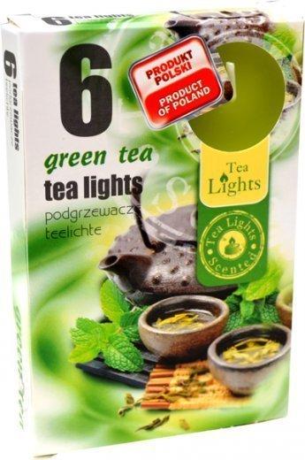 """PODGRZEWACZ 6 SZTUK TEA LIGHT """"Green tea"""""""
