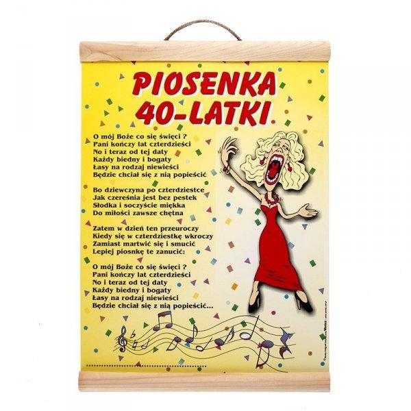 """DYPLOM KOLOROWY """"PIOSENKA 40-LATKI"""""""