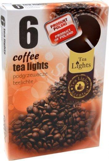 "PODGRZEWACZ 6 SZTUK TEA LIGHT ""Coffee"""