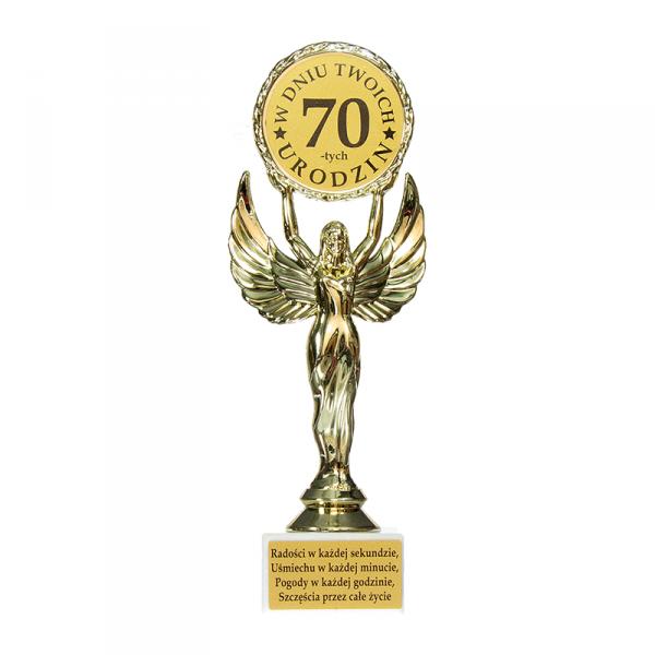 Statuetka Victoria 'W dniu Twoich 70-tych urodzin'