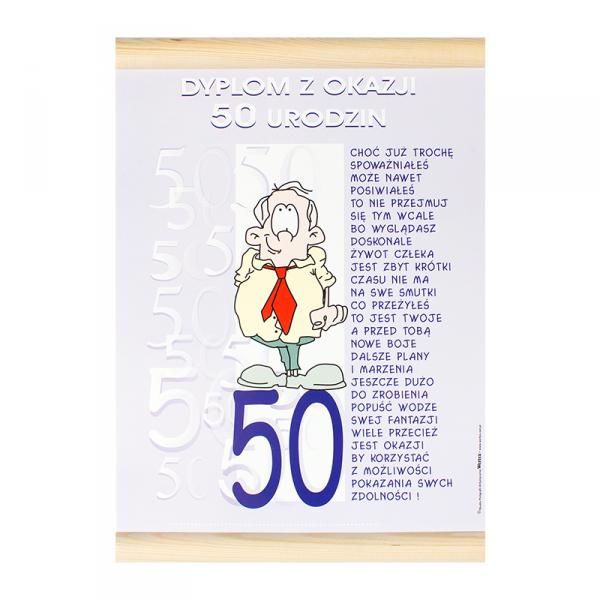 """DYPLOM KOLOROWY """"50 URODZINY PAN"""""""