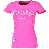 WOMEN'S TREC WEAR - WHITE LOGO TREC - T-SHIRT 019/RÓŻOWA