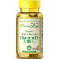 Puritan's Pride Vitamine D3 2000 IU 100 kapsułek